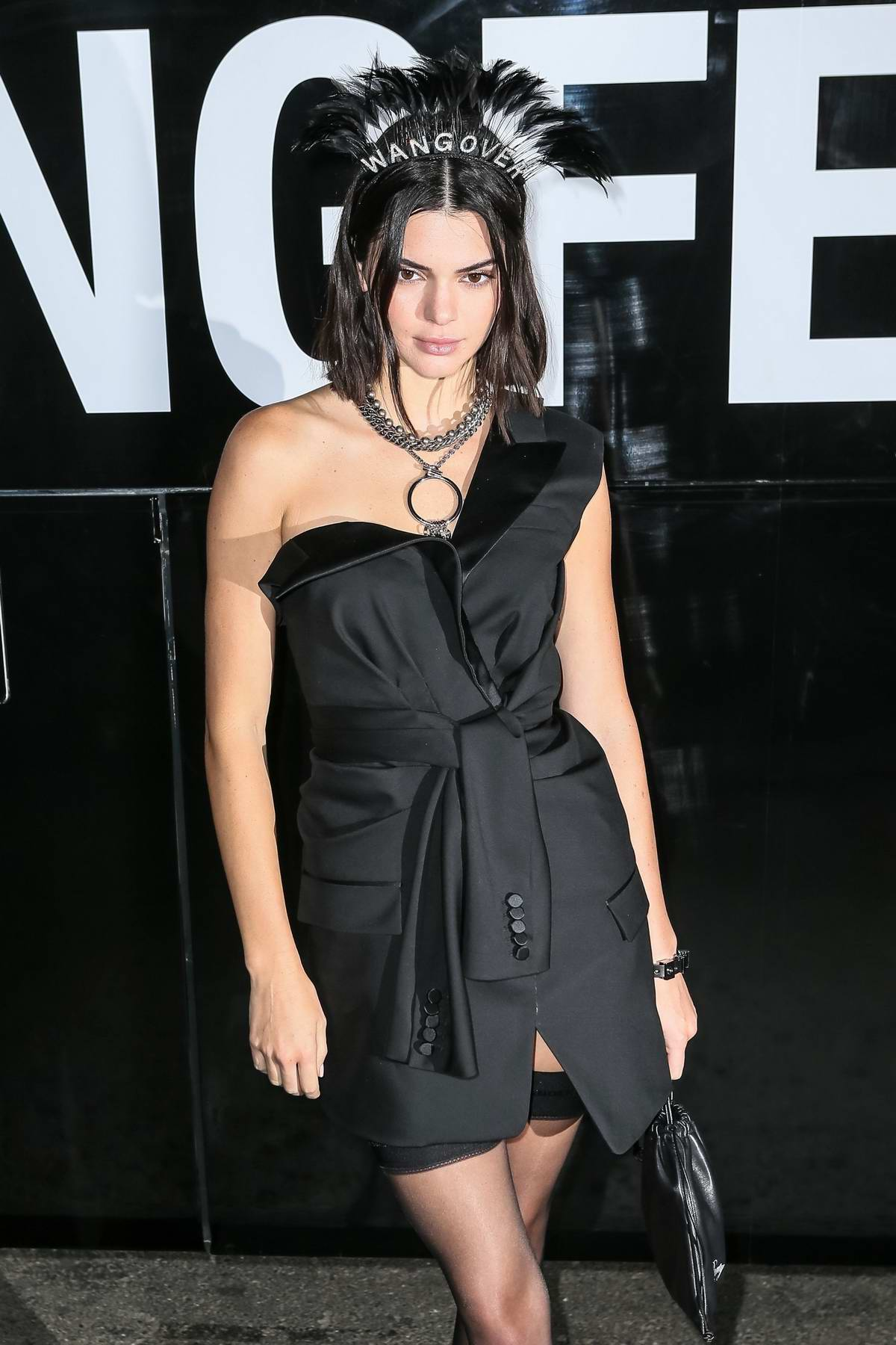 Kendall Jenner attends the Alexander Wang Show during New York Fashion Week