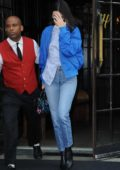 Kendall Jenner in a blue jacket out and about in New York City