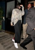 Kendall Jenner leaves Carbone restaurant in Soho, New York City