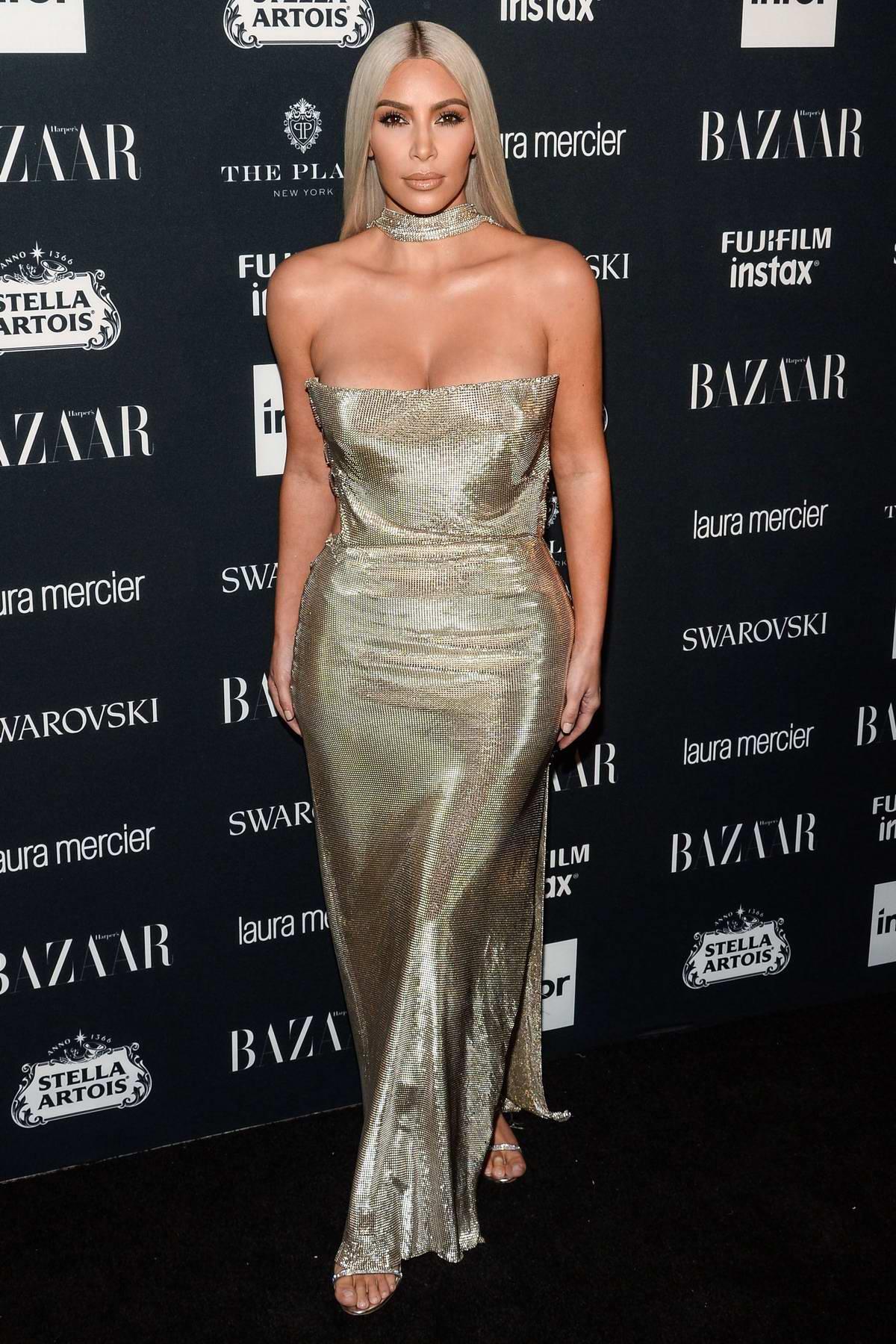 Kim Kardashian at the Harper's Bazaar ICONS party at New York Fashion Week
