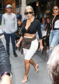 Kim Kardashian leaving Serafina in New York City