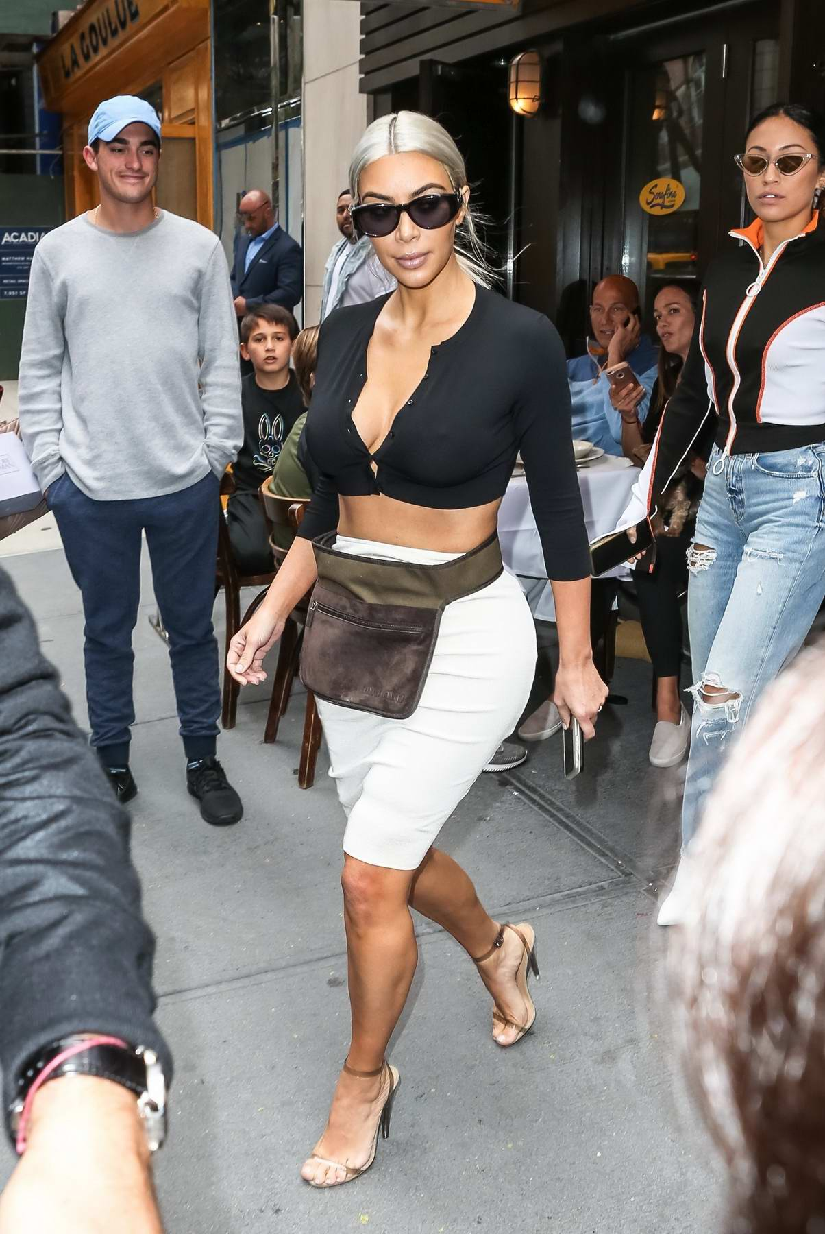 Kim Kardashian leaving Serafina in New York City