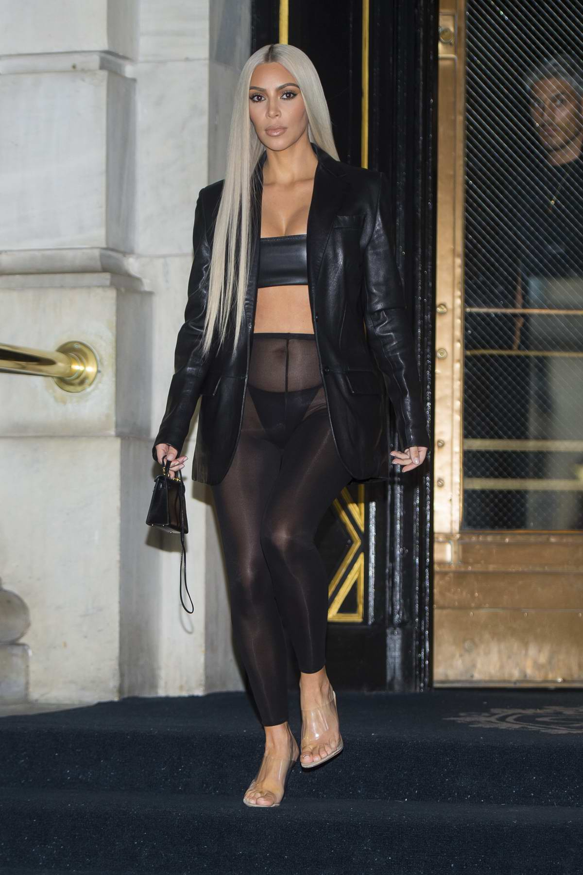 Kim Kardashian spotted in sheer pants while out in New York City