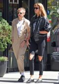 Kristen Stewart and Stella Maxwell heading out for lunch in the Little Italy section of New York City