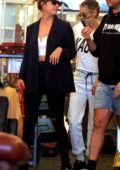 Kristen Stewart, Stella Maxwell and Ashley Benson spotted shopping at an Antique shop Downtown New York