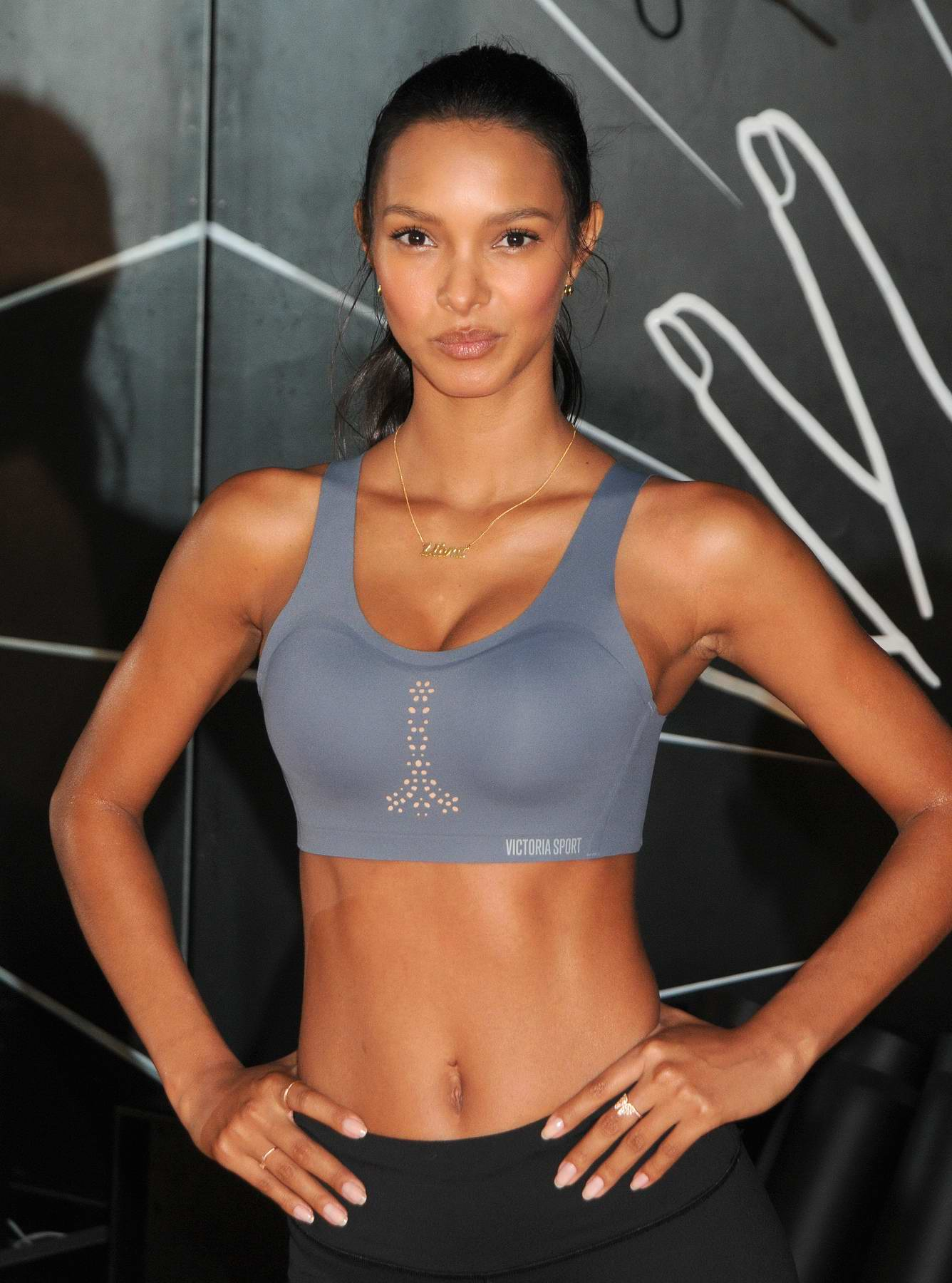 "Lais Ribeiro at an event for Victoria's Secret ""Train Like an Angel"" workout in New York"