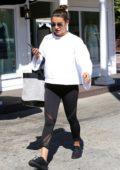 Lea Michele leaves a nail salon in Studio City, Los Angeles
