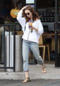 Lily Collins looks casual as she steps out on a coffee run in Los Angeles