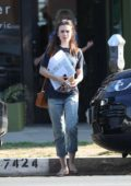 Lily Collins shopping for art with her mother in Los Angeles