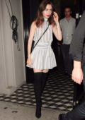 Lily Collins spotted leaving Craigs Restaurant after having dinner in Los Angeles
