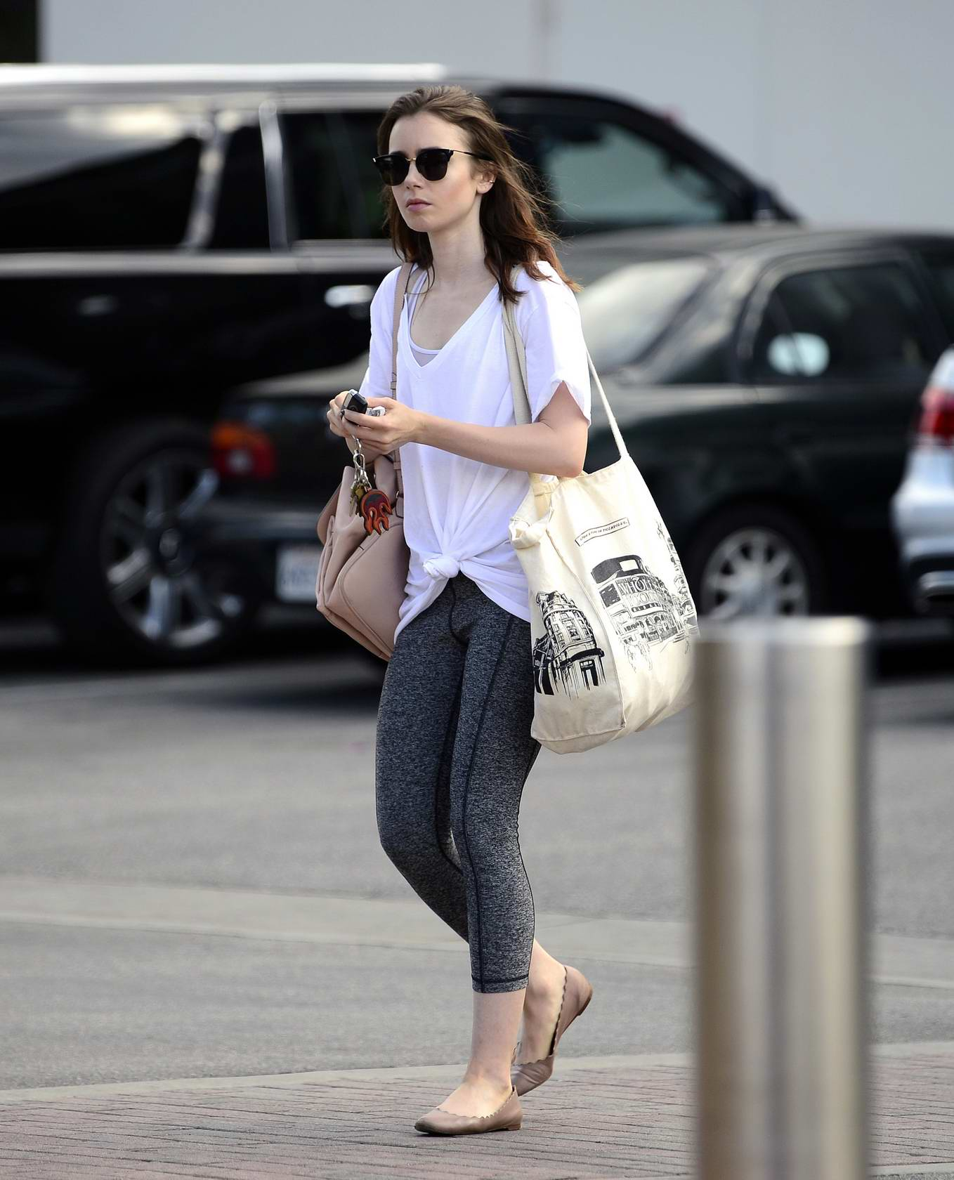 Lily Collins spotted running errands in Los Angeles