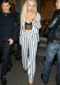 Lottie Moss outside Wolf and Badger celebrate Independent Talent LFW Party in London