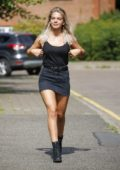 Louisa Johnson is spotted out and about in Essex, UK