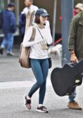 Lucy Hale spotted while shopping for guitar with her co-star Elliot Knight in Vancouver, Canada