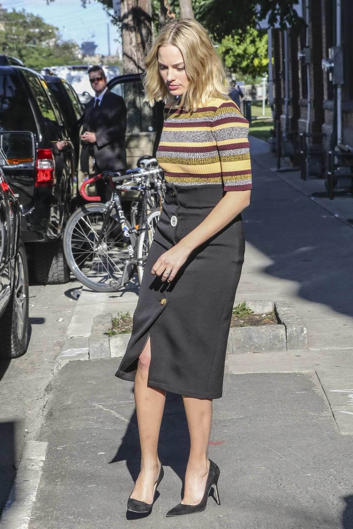 Margot Robbie is spotted out and about in Toronto during the Toronto International Film Festival