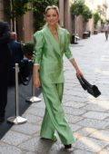 Marion Cotillard in all green outfit spotted out and about in Milan, Italy