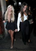 Megan McKenna out celebrating her 25th birthday with Amber Dowding at 100 Wardour Street in London