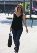 Mia Goth returning back to her hotel after shopping in Cologne, Germany