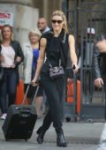 Michelle Hunziker spotted at a Railway Station in Milan, Italy