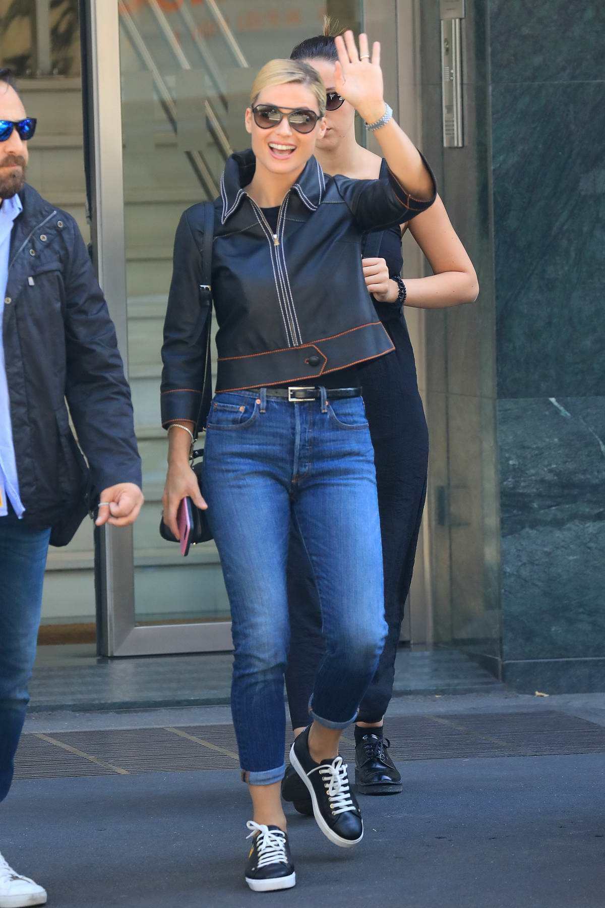 Michelle Hunziker with Aurora Ramazzotti out and about in Milan
