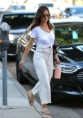 Minka Kelly heads to an appointment at Cedars-Sinai Medical Center in Los Angeles