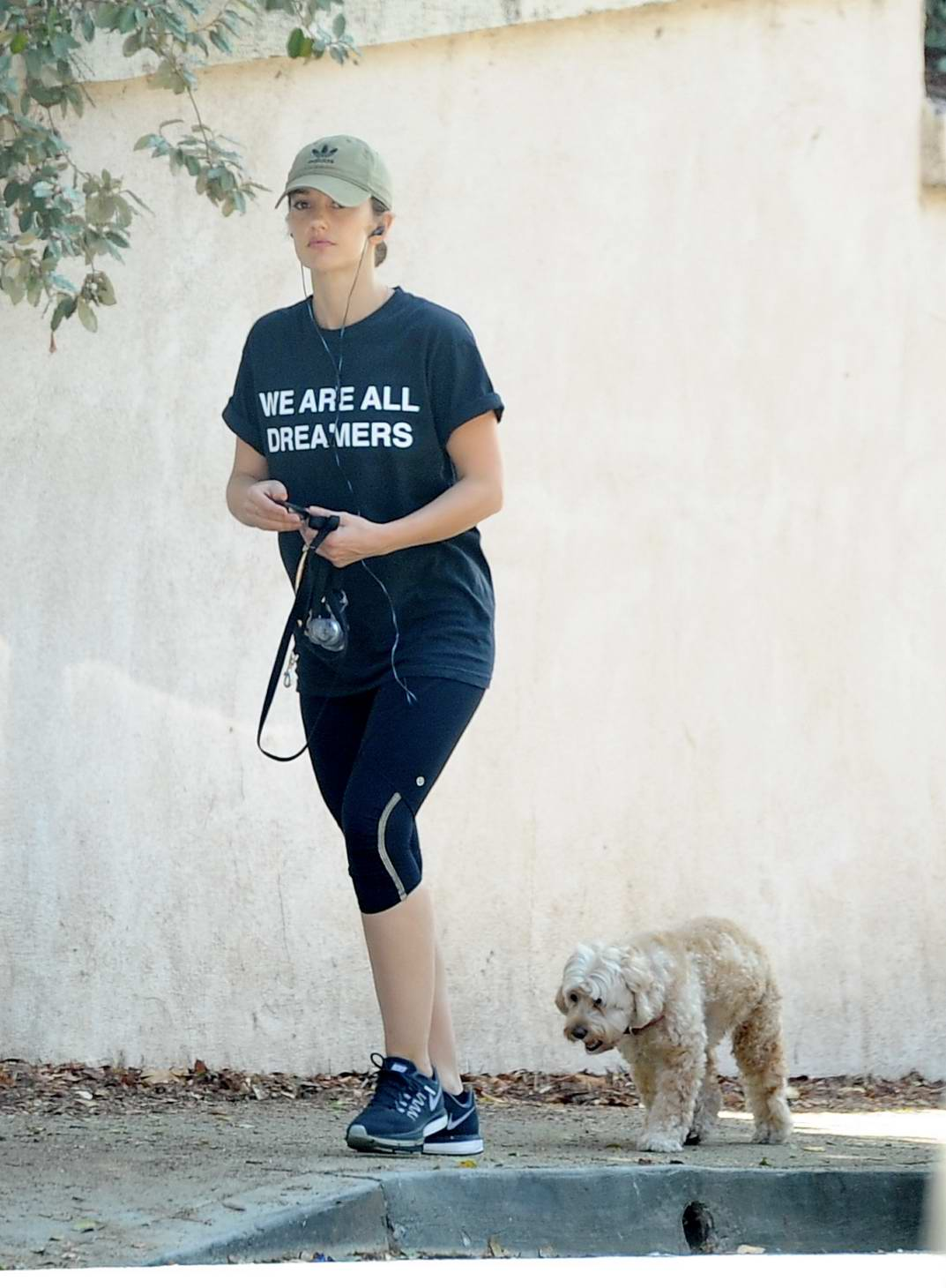 Minka Kelly takes her dogs to the dog park in Hollywood, Los Angeles