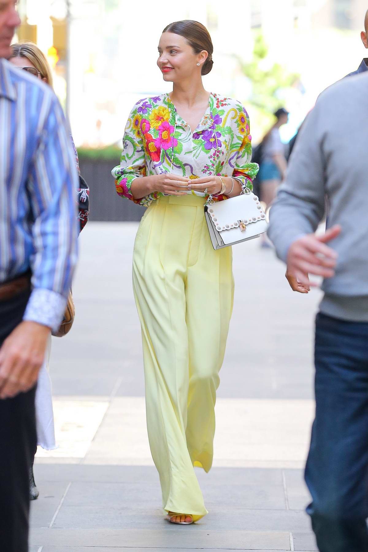 Miranda Kerr spotted leaving the Today show in New York City