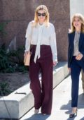Mischa Barton leaves after her appearance at the Superior Court in Los Angeles
