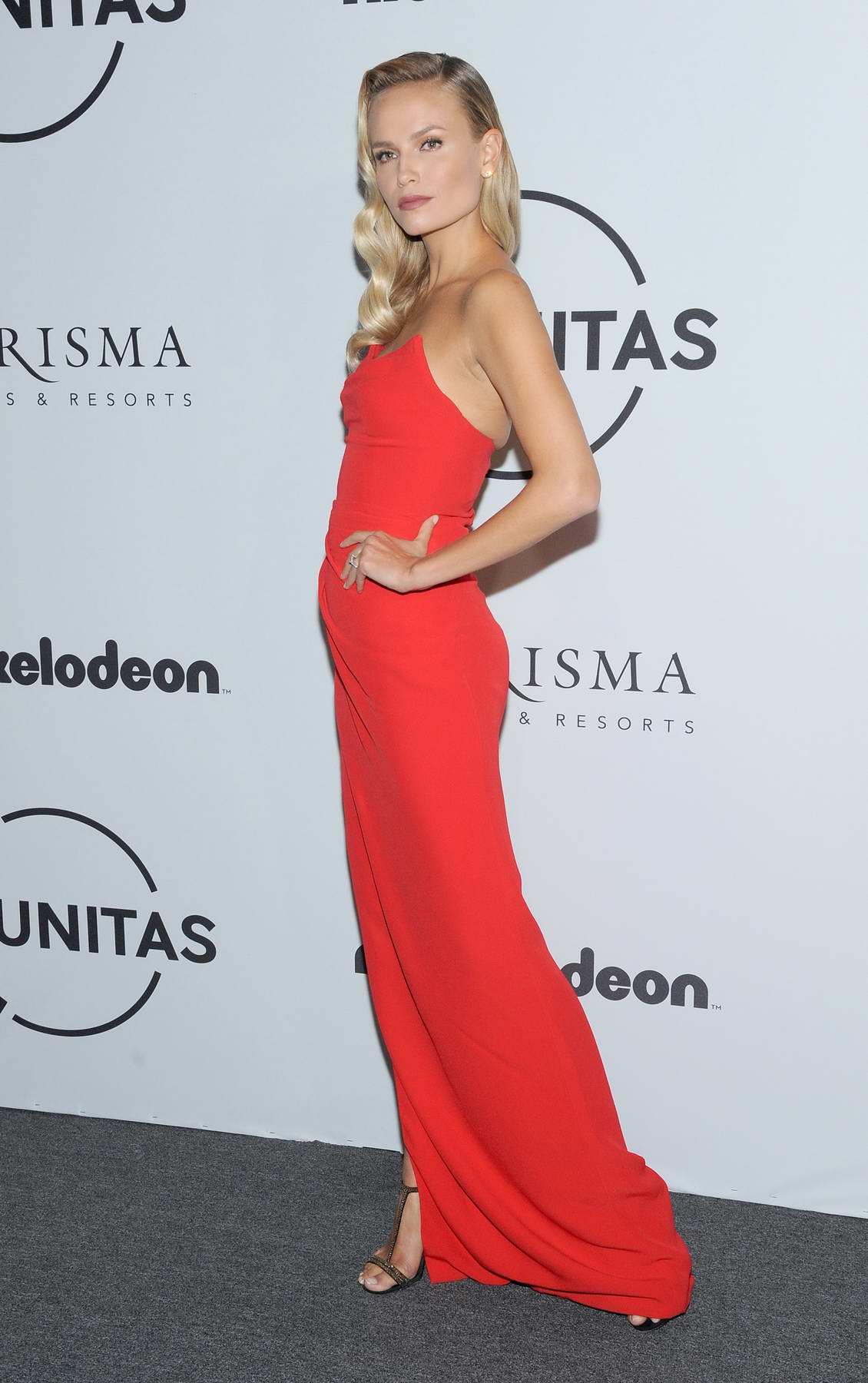 Natasha Poly at UNITAS Gala against human trafficking, spring summer 2018 during New York Fashion Week