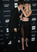 Nicola Peltz and Anwar Hadid at the Harper's Bazaar ICONS party at New York Fashion Week