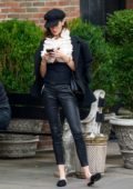 Nicole Trunfio is spotted outside her hotel in New York City