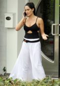 Nikki Bella seen on the phone during a break from DWTS dance practice in Los Angeles