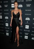 Nina Agdal at the Harper's Bazaar ICONS party at New York Fashion Week