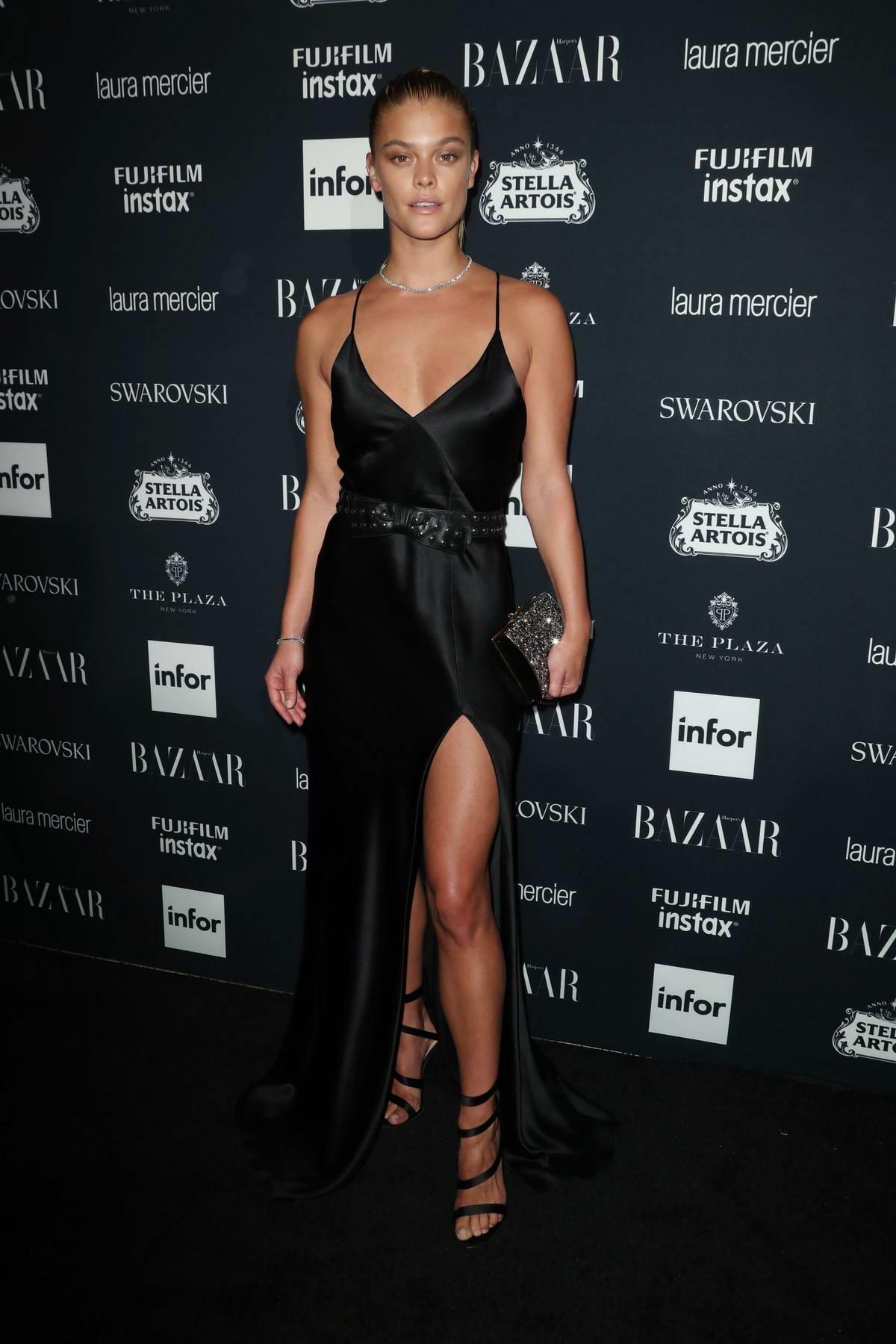 Nina Agdal at the Harper's Bazaar ICONS party at New York Fashion Week