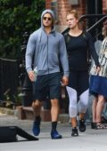 Nina Agdal is spotted packing on the PDA with Jack Brinkley-Cook in New York City