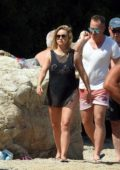 Ola Jordan spotted on a beach on Skiathos Island, Greece