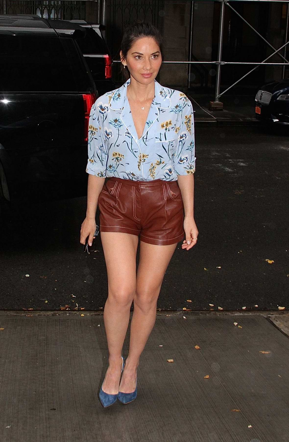 Olivia Munn arrives at The Chew in New York City