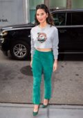 Olivia Munn arrives to SiriusXM Studios in New York City