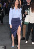 Olivia Munn arriving at Good Morning America on Times Square in New York