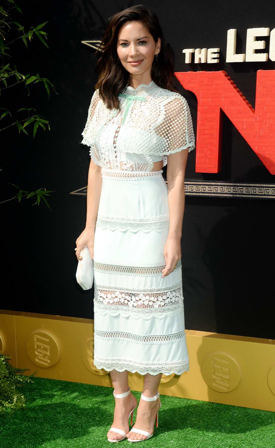 Olivia Munn attends The Lego Ninjago movie premiere in Los Angeles