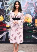 Olivia Munn attends the 'Lego Ninjago' movie press day 2 in Carlsbad, California