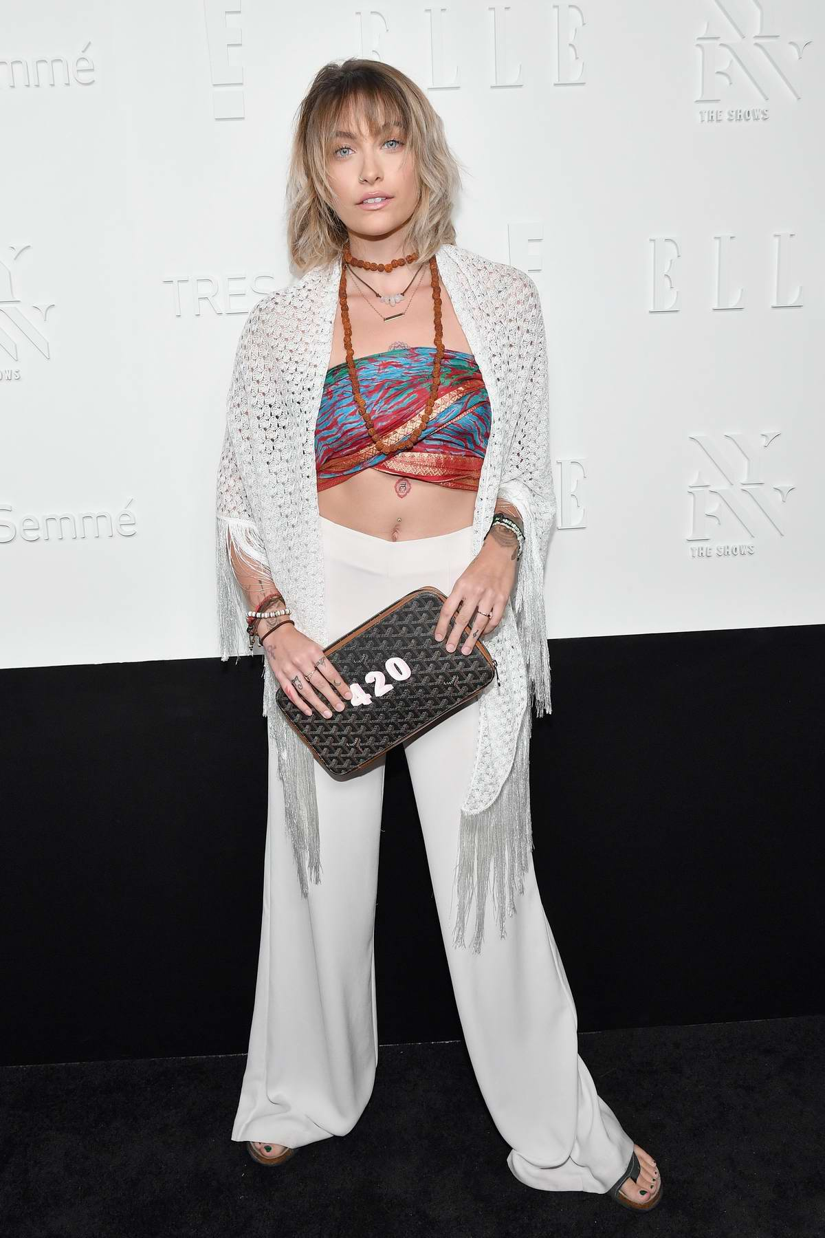 Paris Jackson at Elle IMG party spring summer 2018 at NYFW in New York
