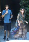 Paris Jackson grabs coffee with Keegan Allen in Malibu