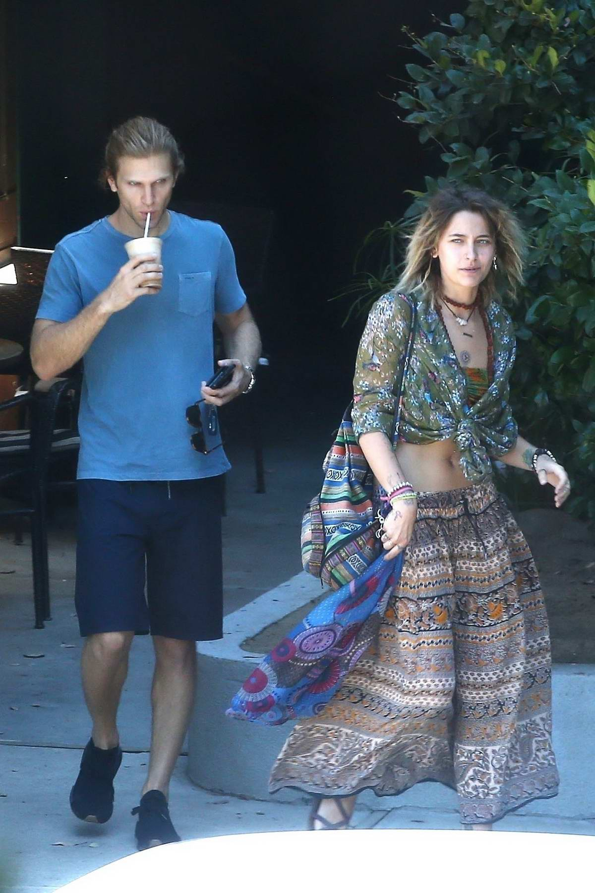 Paris Jackson grabs coffee with Keegan Allen in Malibu
