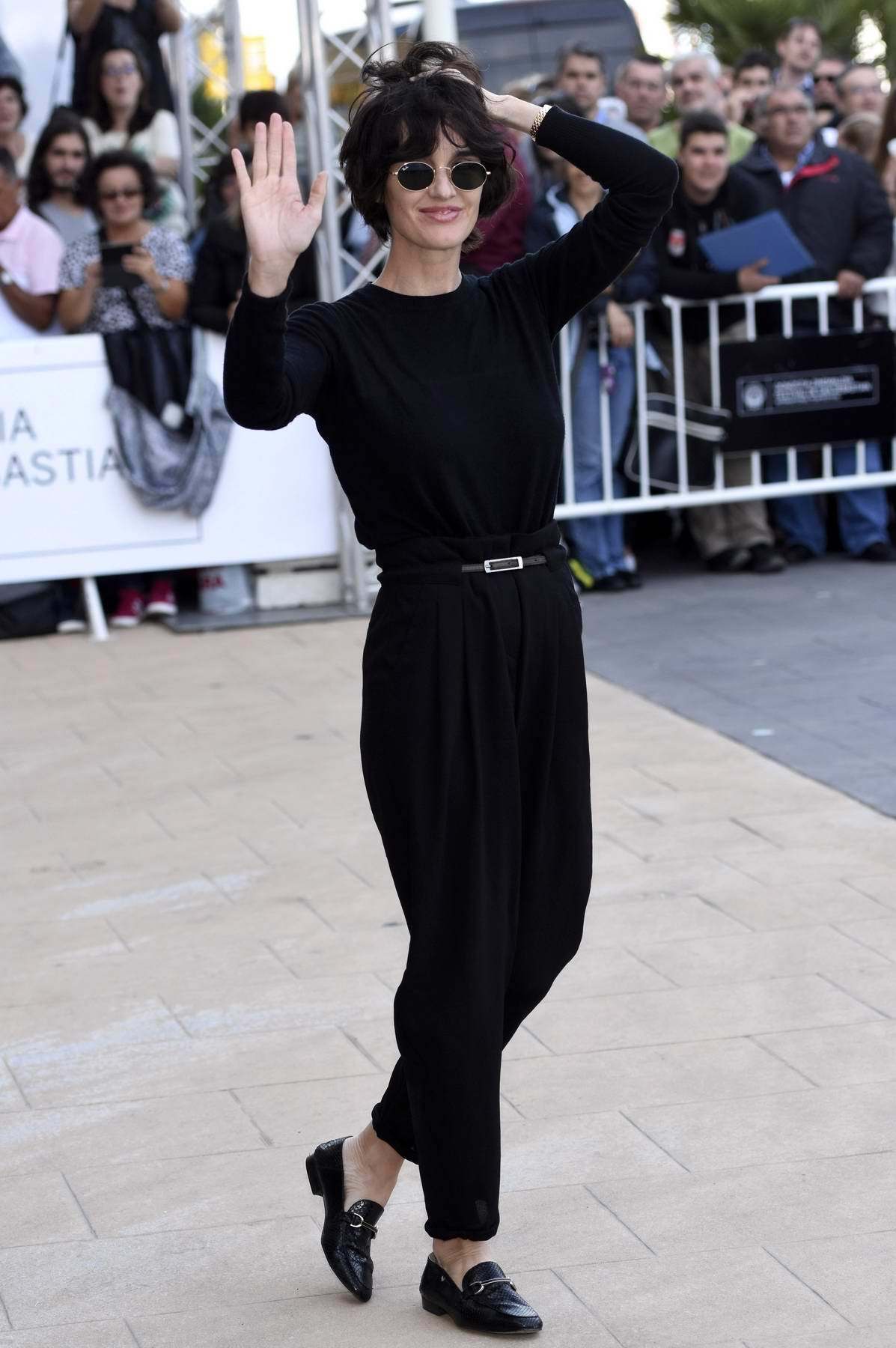 Paz Vega arriving at the Maria Cristina Hotel during the 65th San Sebastian International Film Festival in San Sebastian, Spain
