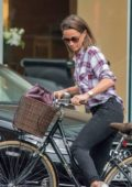 Pippa Middleton was spotted cycling in London