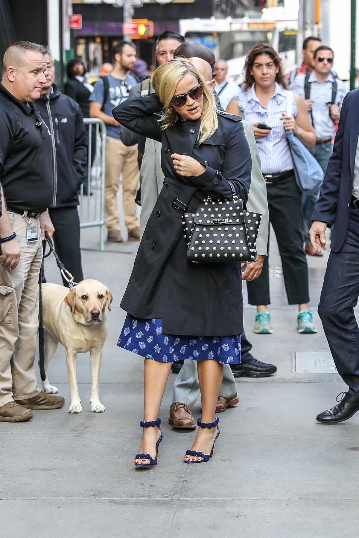 Reese Witherspoon spotted arriving for a TV show in the Times Square Area of New York