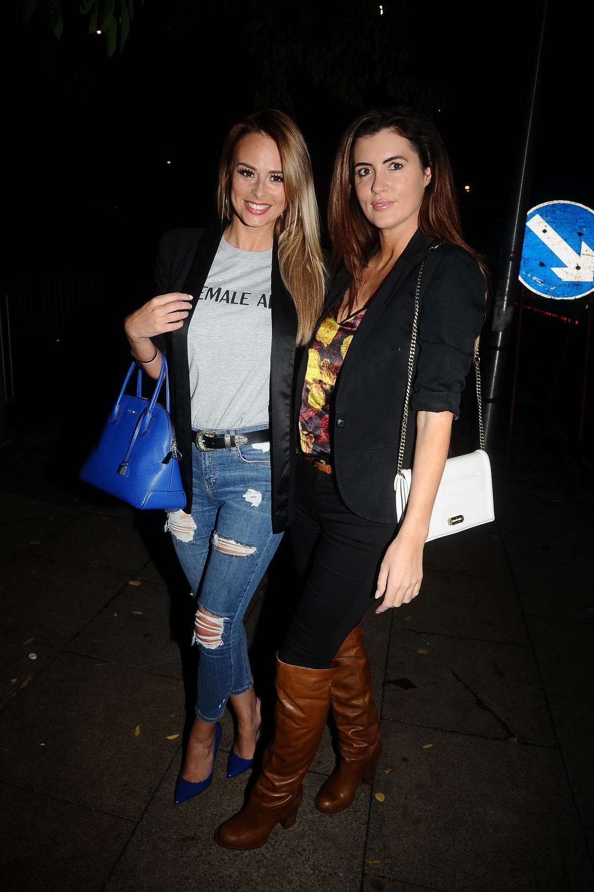 Rhian Sugden and Helen Woods attend the El Diablo Bar launch on Deansgate Locks in Manchester, UK