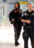 Rihanna was spotted landing at JFK Airport in New York