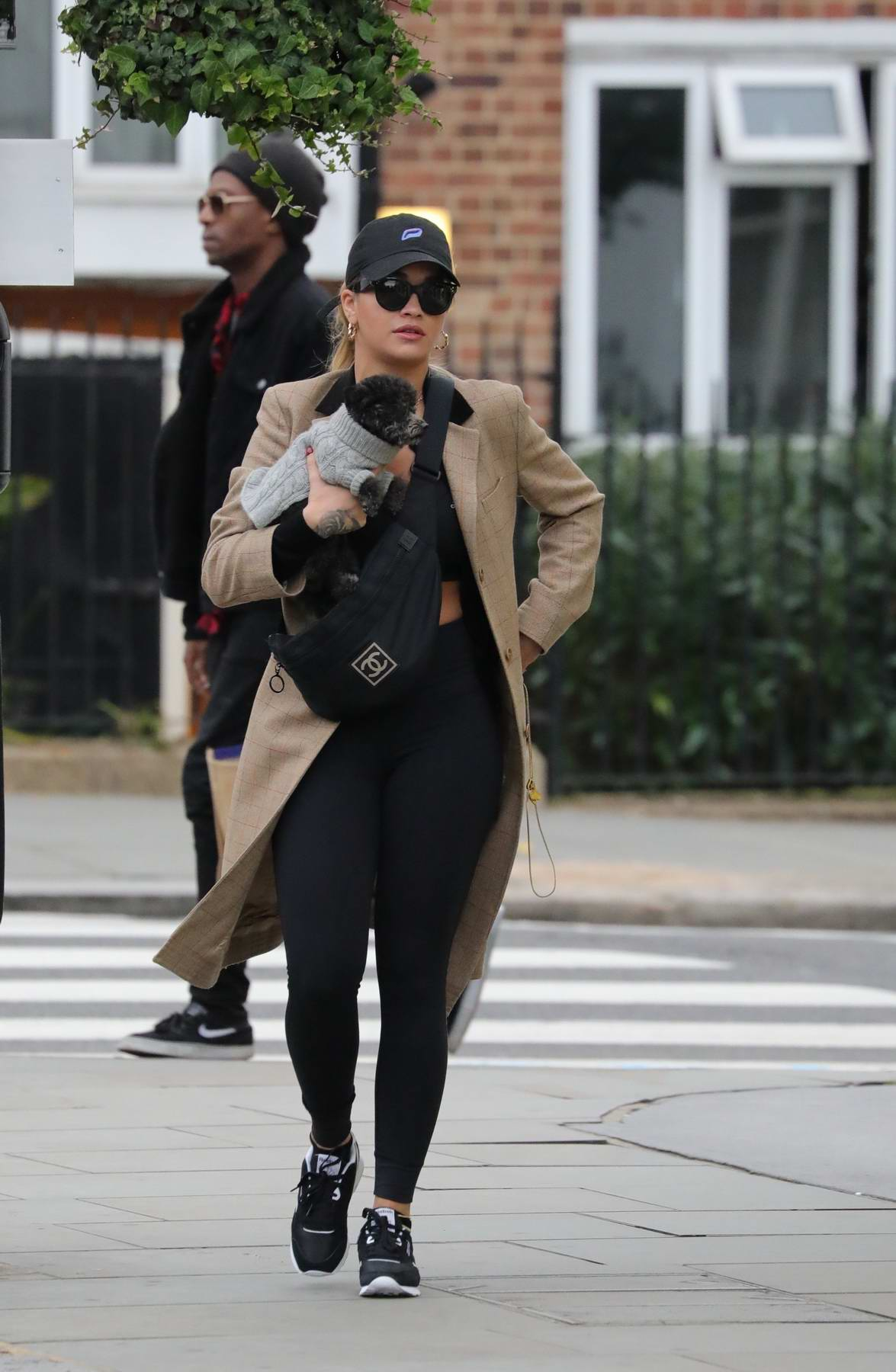 Rita Ora spotted with her dog in Notting Hill, London